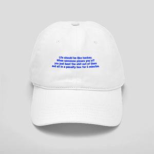 life-should-be-like-hockey-ak-blue Baseball Cap