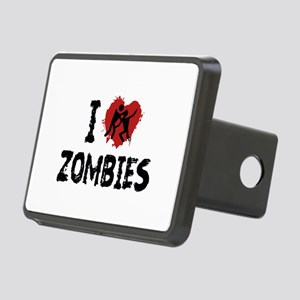 I Love Zombies Rectangular Hitch Cover