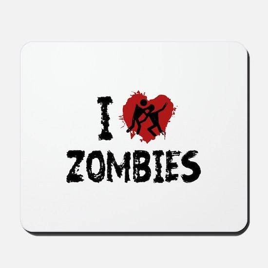I Love Zombies Mousepad
