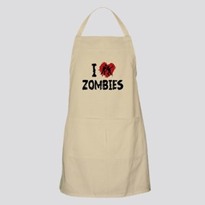 I Love Zombies Apron