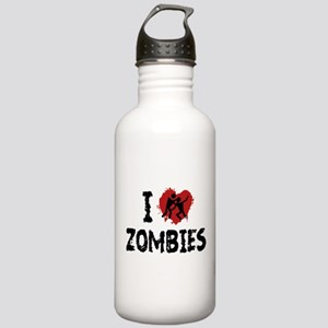 I Love Zombies Stainless Water Bottle 1.0L