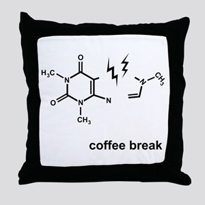 Coffee Break! Throw Pillow
