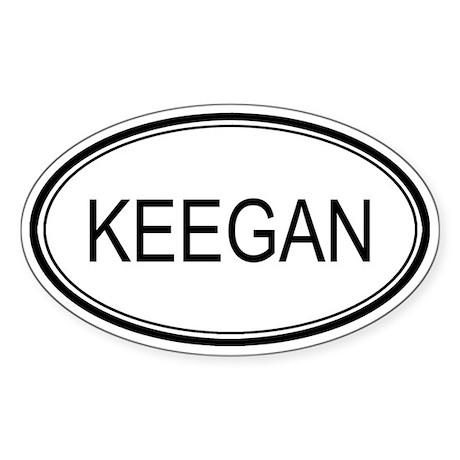 Keegan Oval Design Oval Sticker
