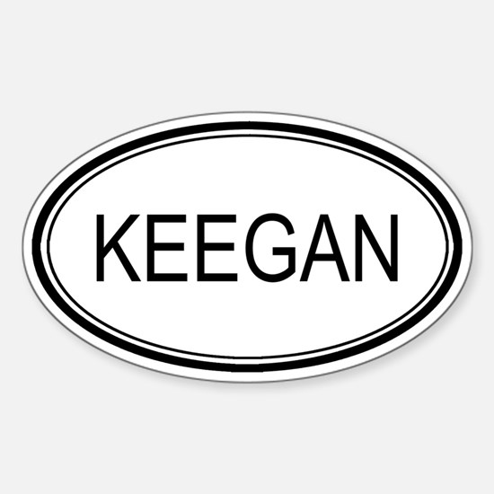 Keegan Oval Design Oval Decal