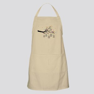 tree branch with birds and birdcages Apron