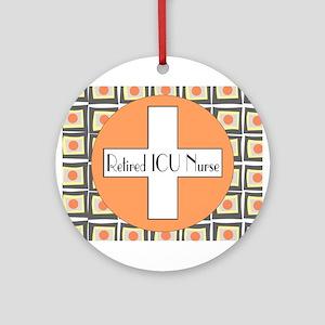 ICU Nurse 4 retired Ornament (Round)