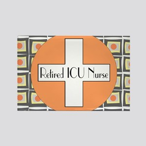 ICU Nurse 4 retired Rectangle Magnet
