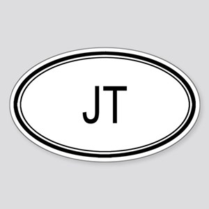 Jt Oval Design Oval Sticker