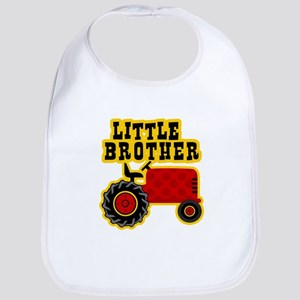 Red Tractor Little Brother Bib