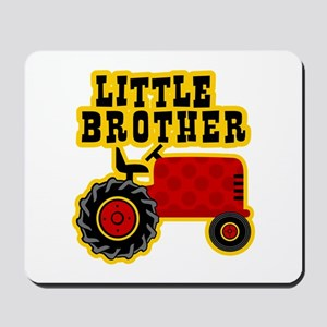 Red Tractor Little Brother Mousepad