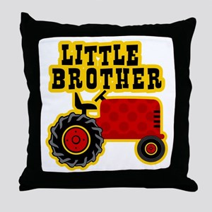 Red Tractor Little Brother Throw Pillow