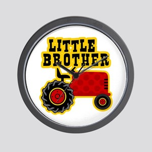 Red Tractor Little Brother Wall Clock