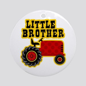 Red Tractor Little Brother Ornament (Round)