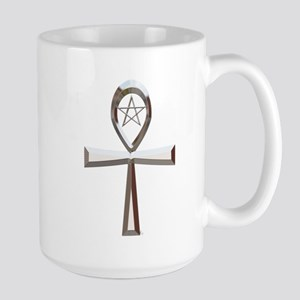 Pentacle Ankh Stainless Steel Travel Mug (Silver)