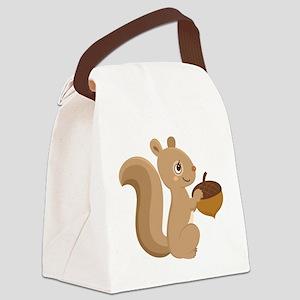 Cartoon Squirrel Canvas Lunch Bag