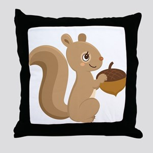 Cartoon Squirrel Throw Pillow