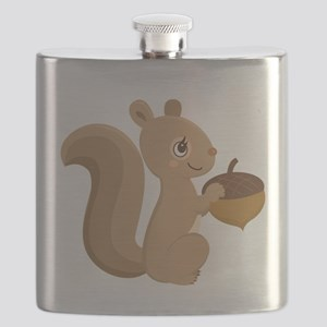Cartoon Squirrel Flask