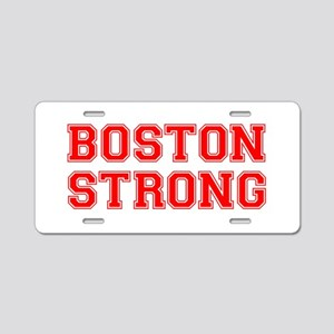 boston-strong-car-red Aluminum License Plate