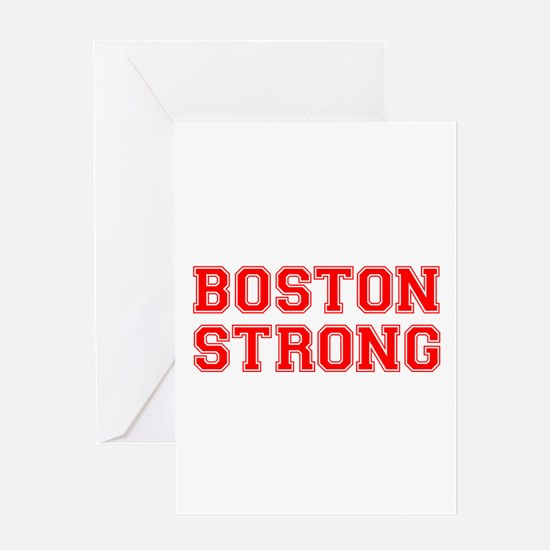 boston-strong-car-red Greeting Card