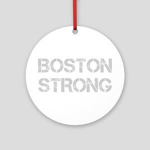 boston-strong-cap-light-gray Ornament (Round)