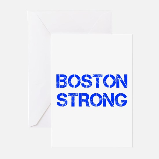 boston-strong-cap-blue Greeting Cards (Pk of 10)