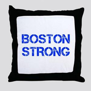 boston-strong-cap-blue Throw Pillow
