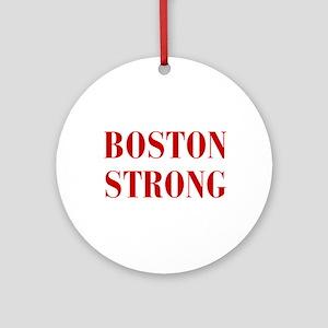 boston-strong-bod-dark-red Ornament (Round)