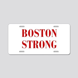 boston-strong-bod-dark-red Aluminum License Plate