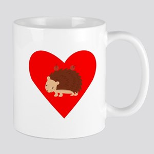 Porcupine Heart Small Mug
