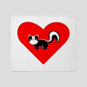 Skunk Heart Throw Blanket