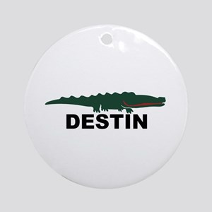 Destin Florida - Alligator Design. Ornament (Round