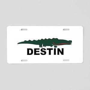 Destin Florida - Alligator Design. Aluminum Licens