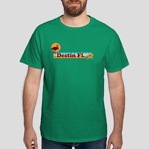 Desting Florida - Beach Design. Dark T-Shirt