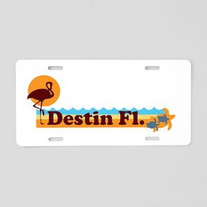 Desting Florida - Beach Design. Aluminum License P