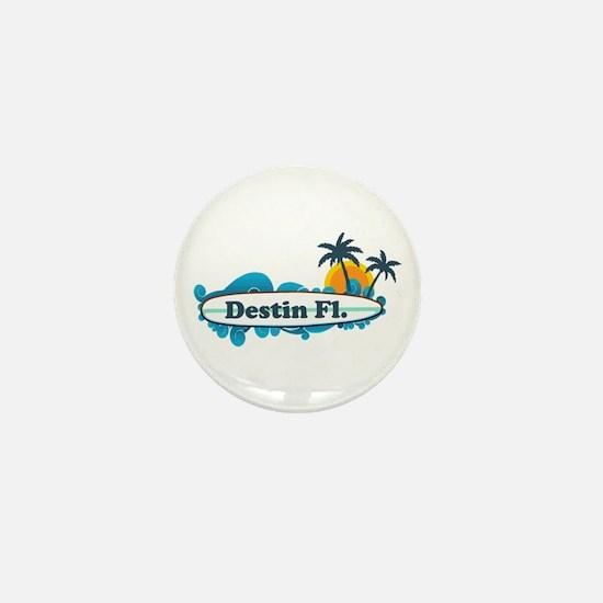Destin Florida - Surf Design. Mini Button
