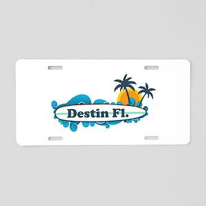 Destin Florida - Surf Design. Aluminum License Pla
