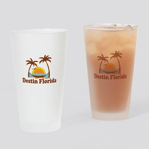 Destin Florida - Palm Tees Design. Drinking Glass