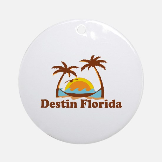 Destin Florida - Palm Tees Design. Ornament (Round