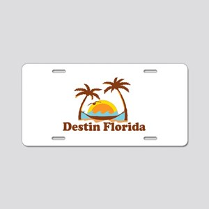 Destin Florida - Palm Tees Design. Aluminum Licens
