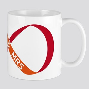 red infinity sign with Mr & Mrs Mug
