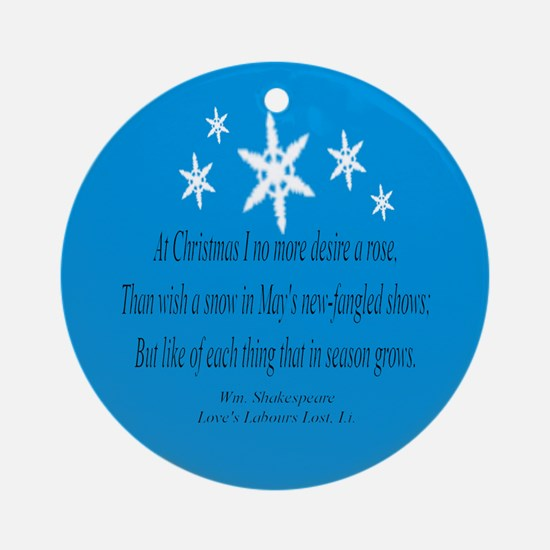 Shakespeare's Christmas Ornament (Round)