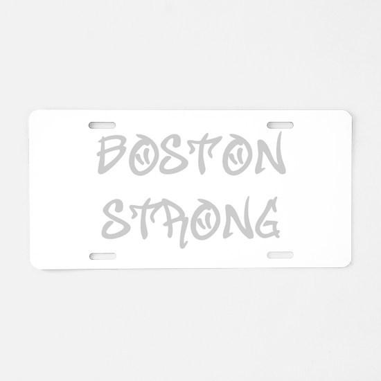 boston-strong-st-light-gray Aluminum License Plate
