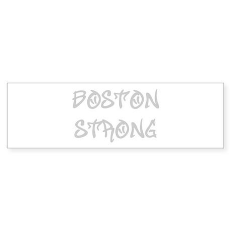 boston-strong-st-light-gray Bumper Sticker