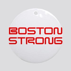boston-strong-saved-red Ornament (Round)
