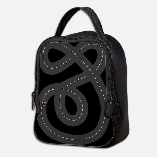 'Race Track' Neoprene Lunch Bag