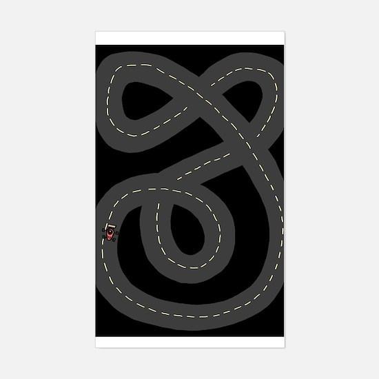 'Race Track' Sticker (Rectangle)