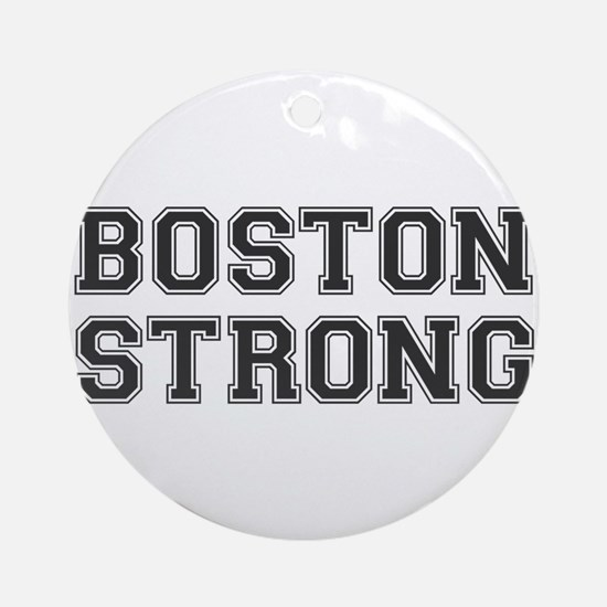 boston-strong-var-dark-gray Ornament (Round)