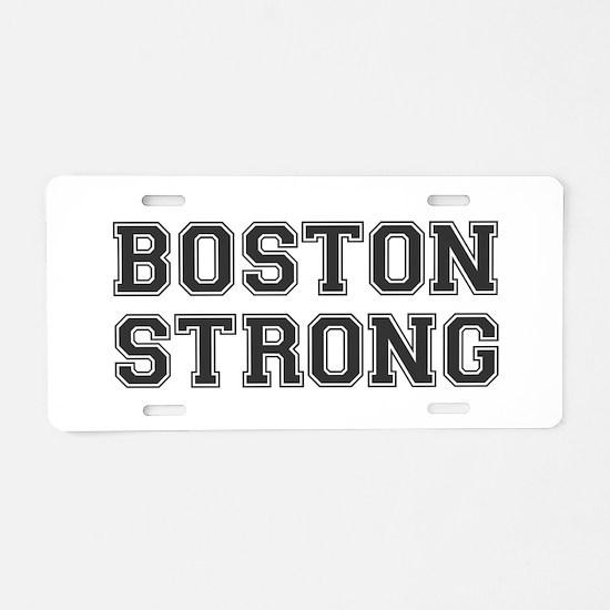 boston-strong-var-dark-gray Aluminum License Plate
