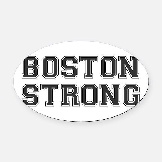boston-strong-var-dark-gray Oval Car Magnet