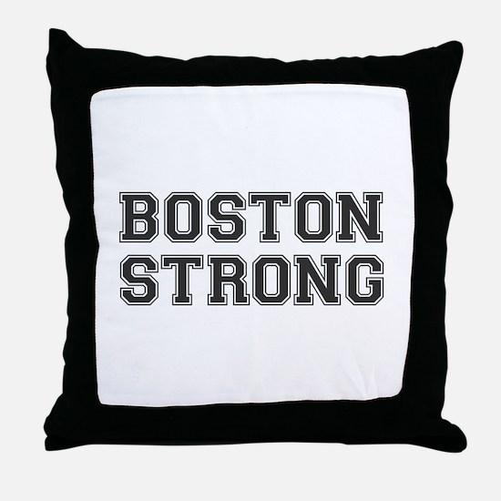boston-strong-var-dark-gray Throw Pillow